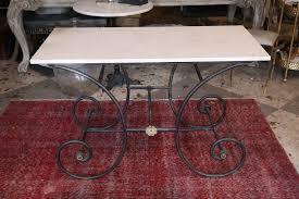 antique french butcher table antique french iron and marble top pastry or butcher table laurier
