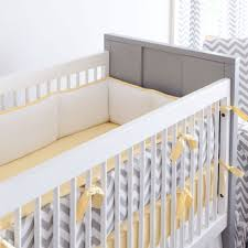 Zig Zag Crib Bedding Set Gray And Yellow Zig Zag Crib Bumper Zig Zag Carousel Designs