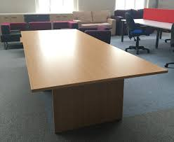 Beech Boardroom Table Quality Ex Showroom Used Office Furniture New U0026 Used Office