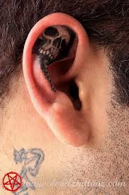 work by artist skull inner ear