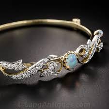 vintage bangle bracelet images Opal and diamond vintage bangle bracelet jpg