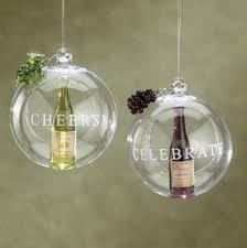 wine bottle in glass ornament