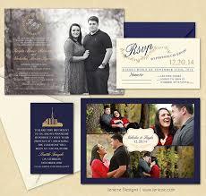 lds wedding invitations lds wedding announcement jeneze designs