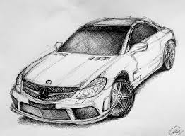 wrecked car drawing drawn vehicle sketch pencil and in color drawn vehicle sketch