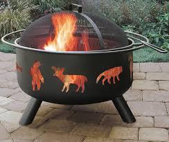 Fire Pit Mat by Amazon Com Landmann Usa 28347 Big Sky Fire Pit Wildlife Black