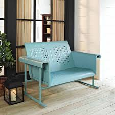 Metal Patio Furniture Retro - crosley furniture veranda loveseat glider walmart com