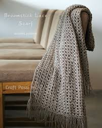 broomstick lace broomstick lace scarf free crochet pattern craft