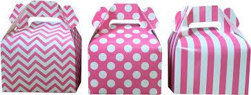 polka dot boxes pink stripe chevron and polka dot favor boxes gable box 36 gb