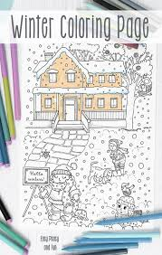 free winter coloring easy peasy fun