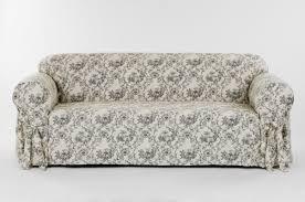 Classic Slipcovers Toile Print Box Cushion Sofa Slipcover