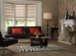 Living Room Curtains Traditional Living Room With Curtains And Faux Wood Window Blinds Spruce Up