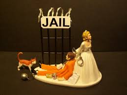 Halloween Wedding Cake Toppers Stay Out Of Prison Or Jail Bride U0026 Groom Wedding Cake Topper