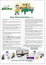 Rules For Table Tennis by Table Tennis Rules Poster 2012