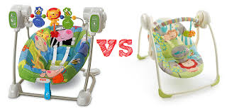 portable baby swing with lights fisher price space saver swing vs bright starts portable swing