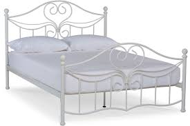 White Small Double Bed Frame by Julliet Small Double Metal Bed Frame 4ft White Ireland