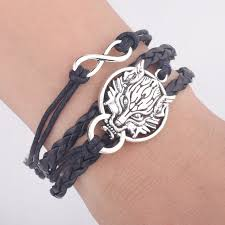 silver bracelet styles images Game of thrones leather bracelets 4 styles free shipping worldwide jpg