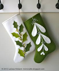 mmmcrafts mistleholly felt stocking pattern now available also