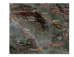Griffith Park Map The Claremontcyclist Ride History Iii La Tuna Ride
