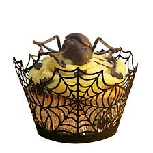 amazon com paper orchid spider web cupcake wrapper black set of