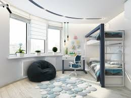 pouf chambre enfant chambre enfant design et tendance en 54 idées ou bleu