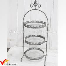 metal cake stand wholesale antique vintage glass metal 3 tier wedding cake stand