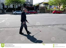 Blind Man Cane Blind Man Walks With A Cane In The Street Editorial Photography