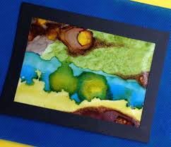 painting on wax paper with alcohol inks bella crafts publishing