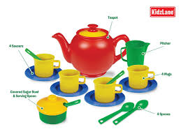 Kitchen Sets For Girls Amazon Com Kidzlane Play Tea Set 15 Durable Plastic Pieces