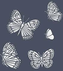 beautiful garden butterfly stencil design 2 sheet stencil