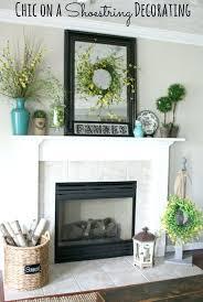 decorating a brick fireplace hearth mantel lace inspiration vogue