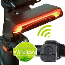 remote to turn off lights bicycle laser tail light remote turn signal night cycling safety