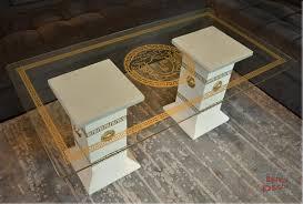 Wohnzimmertisch Orient Designer Säulen Couchtisch Medusa Mäander Wohnzimmertisch Tisch