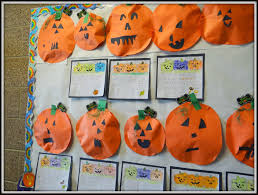 patties classroom halloween art 3d jack o lanterns