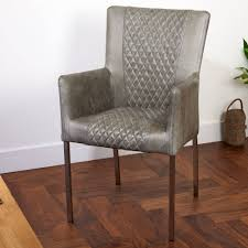 Vintage Leather Chairs Vintage Leather Or Harris Tweed Carver Or Dining Chair By The