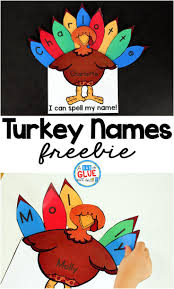 turkey names kindergarten thanksgiving and activities