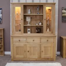 Modern Oak Living Room Furniture Kingston Solid Oak Furniture Large Dresser With Light