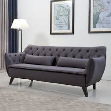 Tufted Faux Leather Sofa by Furniture Leather Sofa With Nailheads Leather Tufted Sofa