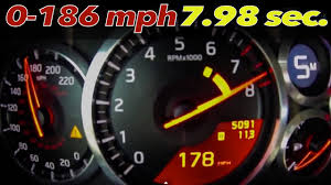 nissan gtr youtube top speed nissan gt r alpha omega brutal 0 186 mph u003d 7 98 sec 0 100mph