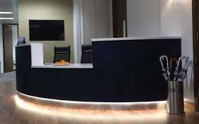 Reception Desk Black Bespoke Curved Reception Desk For Lovell Simon Kohn
