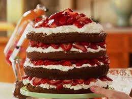 strawberry chocolate layer cake recipe youtube