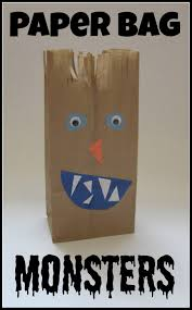 paper bag monsters