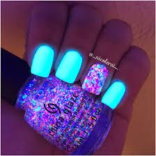 china glaze eletric nights collection blacklight nails nailart