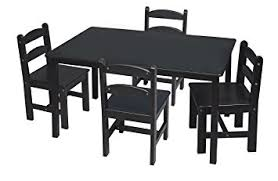 rectangle table and chairs amazon com gift mark rectangle table set with 4 chairs espresso