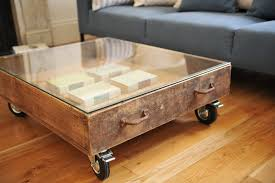 large vintage coffee table old fashioned large coffee table with glass top and four wheels