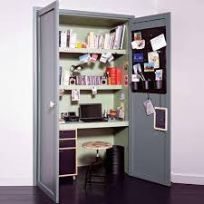 bureau dans un placard bureau placard