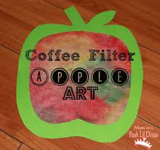 art activities for preschoolers fall crafts coffee filter apple