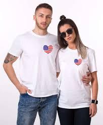 Jamaican Flag Shirt American Flag Shirts 4th Of July Matching Couple Shirts