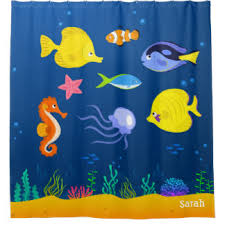 Seahorse Shower Curtain Seahorse Shower Curtains Zazzle