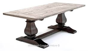 reclaimed trestle dining table rustic trestle base table reclaimed wood tuscan old