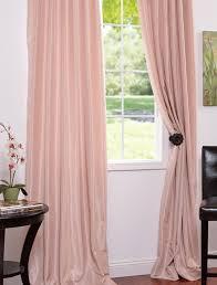 Drapery Shops Rose Blush Vintage Textured Faux Dupioni Silk Curtains U0026 Drapes